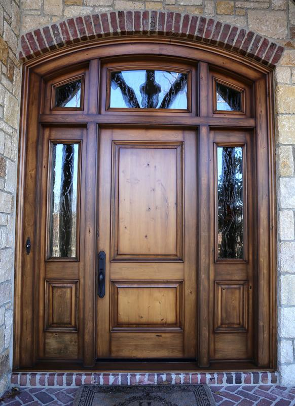 Front doors fauxkc for Faux wood front doors