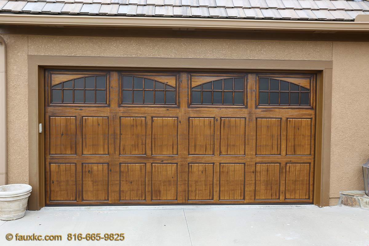 Garage doors fauxkc for Faux finish garage doors
