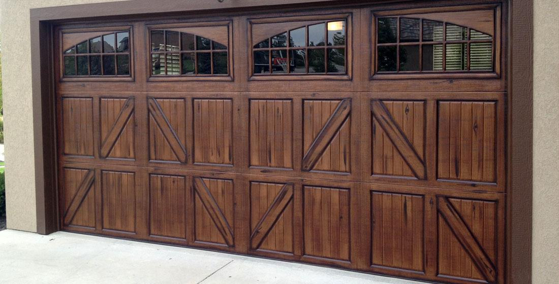 Faux wood garage doors fauxkc for Fake wood garage doors